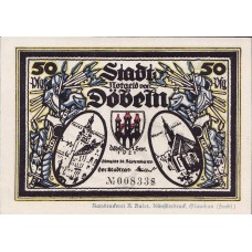 Döbeln Stadt, 8x50pf, Set of 8 Notes, 277.1a