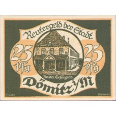 Dömitz Stadt, 1x10pf, 1x25pf, 1x50pf, Set of 3 Notes, 278.2