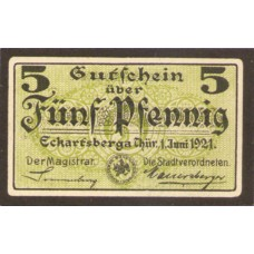 Eckartsberga Thür. Stadt, 1x5pf, Set of 1 Notes, 305.3