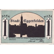 Eggenfelden Stadt, 1x25pf, 1x1mk, Set of 2 Notes, 310.1