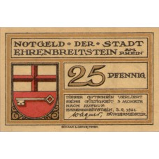 Ehrenbreitstein Stadt, 3x25pf, 3x50pf, 1x75pf, Set of 7 Notes, 311.1