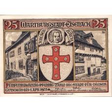 Eisenach Stadt, 2x25pf, 2x50pf, 2x75pf, Set of 6 Notes, 320.4a