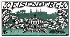 Eisenberg Stadt, 1x50pf, Set of 1 Notes, 322.4