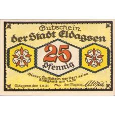 Eldagsen Stadt, 1x25pf, 1x50pf, 1x75pf, 2x1mk, Set of 5 Notes, 327.1