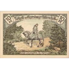 Elgersburg, Bad Elgersburger Ritterschaft, 1x10pf, 1x25pf, 1x50pf, Set of 3 Notes, 328.1