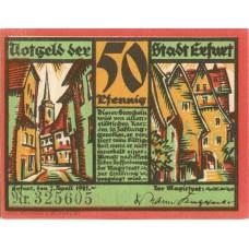 Erfurt Stadt, 1x50pf, 1x75pf, Set of 2 Notes, SN Type 1, 344.5