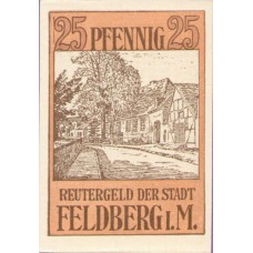 Feldberg Stadt, 1x10pf, 1x25pf, 1x50pf, Set of 3 Notes, 361.1