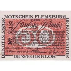 Flensburg Stadt, 50 Pfennig, Black SN, 369.1a