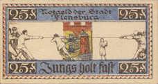 Flensburg Stadt, 25 Pfennig, Red SN, 369.3a