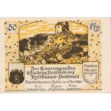 Frankenhausen am Kyffhäuser Städtische Sparkasse, 6x50pf, Set of 6 Notes, 373.1a