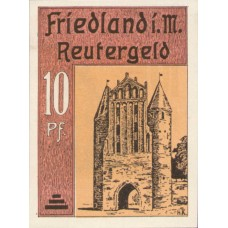 Friedland Stadt, 1x10pf, 1x25pf, 1x50pf, Set of 3 Notes, 392.1