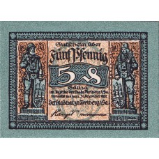 Freiberg Stadt, 1x5pf, 1x10pf, Set of 2 Notes, F19.7a