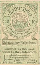 Amstetten Prv. Schutzverein Antisemitenbund Ortsgruppe Amstetten, 10 Heller, FS 38c