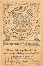 Amstetten Prv. Schutzverein Antisemitenbund Ortsgruppe Amstetten, 20 Heller, FS 38c