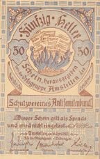 Amstetten Prv. Schutzverein Antisemitenbund Ortsgruppe Amstetten, 50 Heller, FS 38c