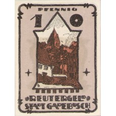Gadebusch Stadt, 1x10pf, 1x25pf, 1x50pf, Set of 3 Notes, 404.1