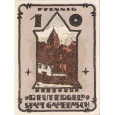 Gadebusch Stadt, 1x10pf, 1x25pf, 1x50pf, Set of 3 Notes, 404.1