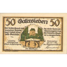 Gatersleben Gemeinde, 1x25pf, 4x50pf, 1x75pf, Set of 6 Notes, 409.1