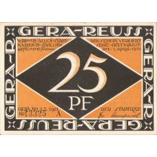 Gera Stadt, 1x25pf, 1x50pf, 2x75pf, Set of 4 Notes, 420.3