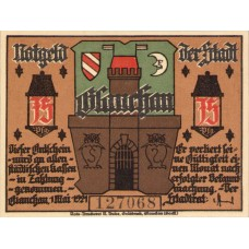 Glauchau Stadt, 6x75pf, Set of 6 Notes, 436.2