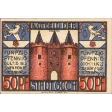 Goch Stadt, 2x50pf, 4x75pf, Set of 6 Notes, 445.3a