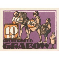 Grabow Stadt, 1x10pf, 1x25pf, 1x50pf, Set of 3 Notes, 460.1