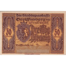 Greiffenberg Stadtsparkasse, 1x30pf, 1x60pf, 1x1mk, 1x3mk, 1x5mk, Set of 5 Notes, 470.3b