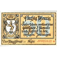 Greußen Stadt, 1x25pf, 1x50pf, Set of 2 Notes, 472.1