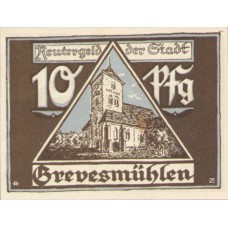Grevesmühlen Stadt, 1x10pf, 1x25pf, 1x50pf, Set of 3 Notes, 473.2