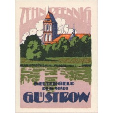 Güstrow Stadt, 1x10pf, 1x25pf, 1x50pf, Set of 3 Notes, 495.1