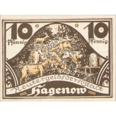 Hagenow Stadt, 1x10pf, 1x25pf, 1x50pf, Set of 3 Notes, 500.2
