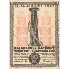 Hamburg Kultur und Sportwoche, 1x50pf, 1x1mk, Set of 2 Notes, 539.1a