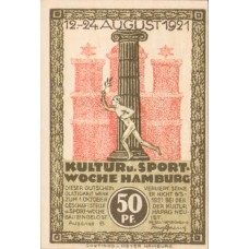 Hamburg Kultur und Sportwoche, 1x50pf, 1x75pf, 1x1mk, Set of 3 Notes, 539.3
