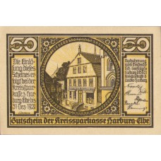 Harburg Kreissparkasse, 4x50pf, Set of 4 Notes, 580.1a