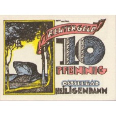 Heiligendamm Badeverwaltung, 1x10pf, 1x25pf, 1x50pf, Set of 3 Notes, 590.1