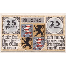 Hildburghausen, 2x25pf, Set of 2 Notes, 608.1