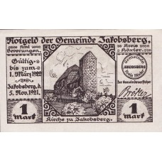 Jakobsberg Gemeinde, 1x1mk, Set of 1 Note, 652.1