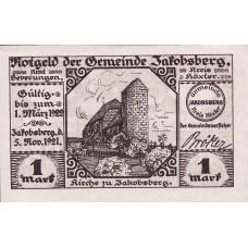 Jakobsberg Gemeinde, 1x1mk, Set of 1 Note, 652.1