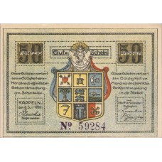Kappeln Stadt, 1x50pf, Set of 1 Notes, 677.2c