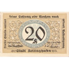 Kellinghusen Stadt, 1x20pf, 1x50pf, Set of 2 Notes, 688.1