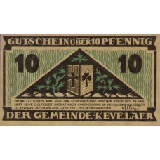 Kevelaer Gemeinde, 1x10pf, 1x25pf, 1x50pf, Set of 3 Notes, 690.1