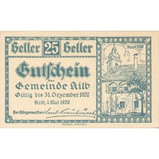 Kilb N.Ö. Marktgemeinde, 1x25h, 1x50h, 1x75h, Set of 3 Notes, FS 436IIa