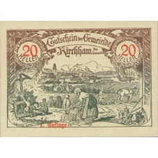 Kirchham O.Ö. Marktgemeinde, 1x20h, 1x30h, 1x50h, Set of 3 Notes, FS 446Ia