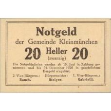 Kleinmünchen O.Ö. Gemeinde, 20 Heller, FS 456aF Error