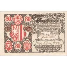 Oberösterreich O.Ö. Land, 1x80h, Set of 1 Notes, FS 692III