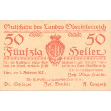 Oberösterreich O.Ö. Land, 1x50h, Set of 1 Notes, FS 692IV