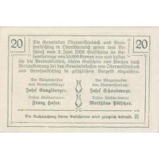 Oberweissenbach und Bernhardschlag O.Ö. Gemeinden, 1x20h, 1x30h, 1x50h, Set of 3 Notes, FS 697