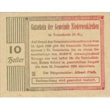 Niederneukirchen im Traunkreis O.Ö. Gemeinde, 1x10h, 1x20h, 1x50h, Set of 3 Notes, FS 670a