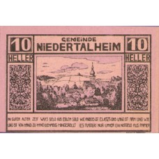 Niederthalheim O.Ö. Gemeinde, 1x10h, 1x20h, 1x50h, Set of 3 Notes, FS 672d