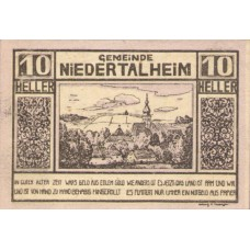 Niederthalheim O.Ö. Gemeinde, 1x10h, 1x20h, 1x50h, Set of 3 Notes, FS 672b